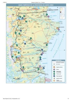 Mapa turístico de Santa Cruz. Mapoteca de Educ.ar