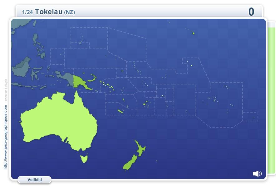 GeoQuizz Ozeanien. Geographie Spiele