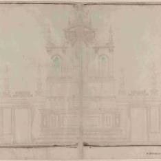 Alzado de la delantera del altar de la iglesia de Santa Maria de'Servi, Bolonia