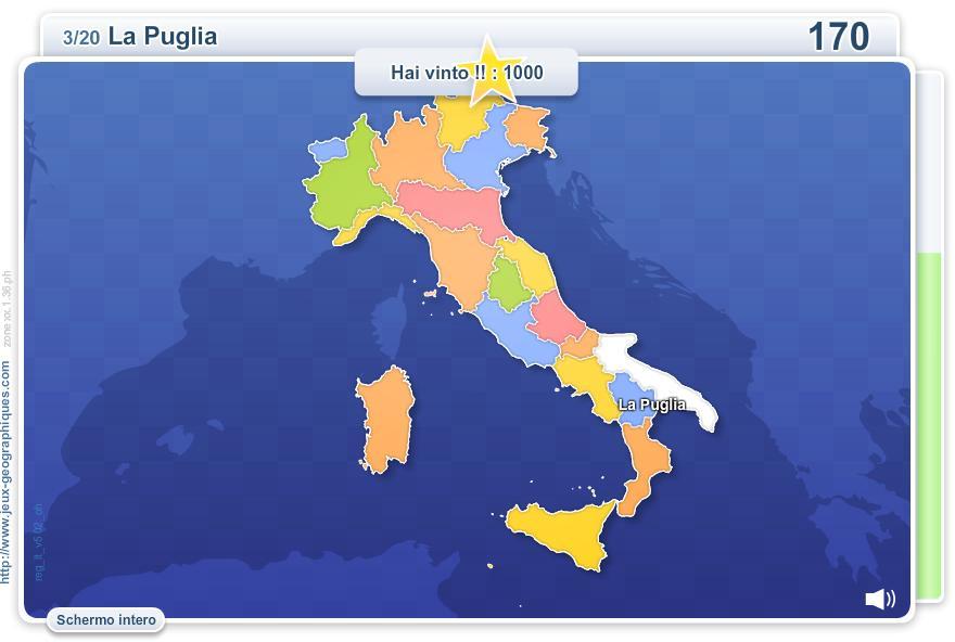 Regioni d'Italia. Giochi geografici