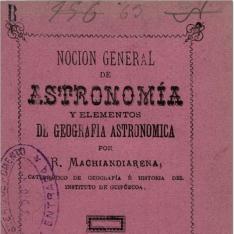 Noción general de astronomía y elementos de geografia astronómica