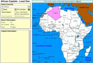 Capitals of Africa. Beginner. Sheppard Software