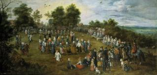 Baile campestre ante los Archiduques