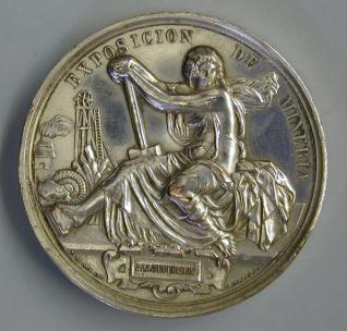 Medalla conmemortiva de la Exposición Minera de 1883