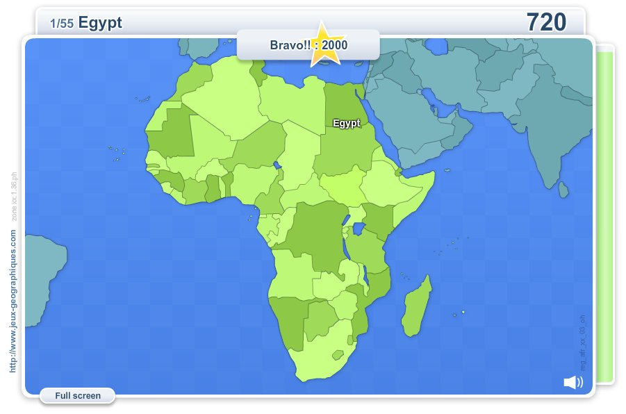 Geo Quizz Africa . Geography map games
