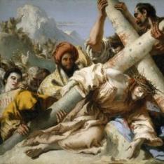 Caída en el camino del Calvario