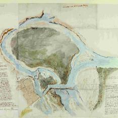 Mapa de Soto Yslado en el río Pisuerga