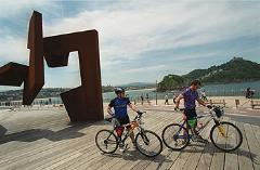 Esculturas desde la bicicleta