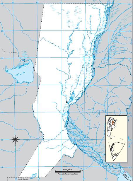 Mapa mudo de Santa Fe. IGN de Argentina