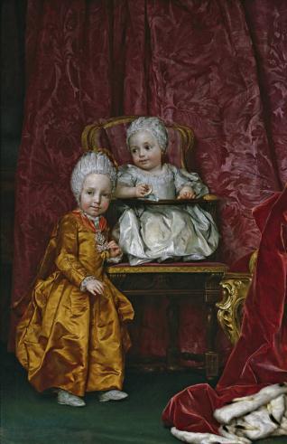 Los archiduques Fernando y María Ana de Austria