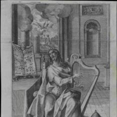 El rey David tocando la lira
