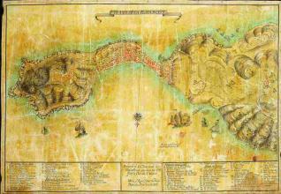 Plano de la Plaza de Ceuta