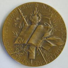 Medalla conmemortiava de elección de marie François Sadi Carnot como Presidente de la República Francesa