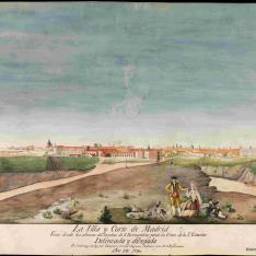 La Villa y Corte de Madrid vista desde las alturas del camino de San Bernardino