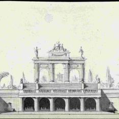 Parterre y arco triunfal
