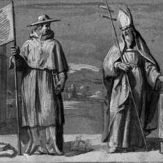 Un cardenal y un obispo