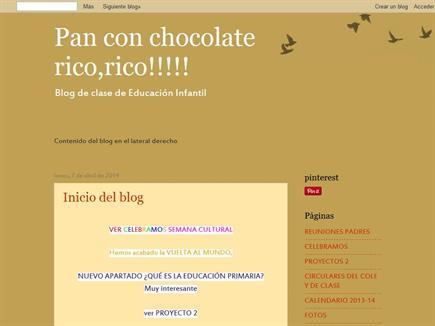 Pan con chocolate rico, rico