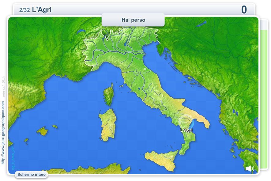 Fiumi italiani. Giochi geografici