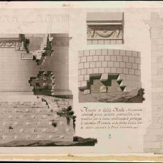 Alzado y sección del Mausoleo de Cecilia Metela