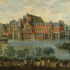 Los Archiduques Isabel Clara Eugenia y Alberto en el Palacio de Tervuren en Bruselas