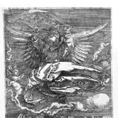 El Santo Sudario llevado por un ángel