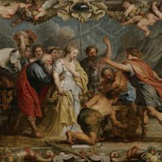 Briseida devuelta a Aquiles por Néstor