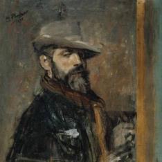 Autorretrato pintando, o Joven con sombrero