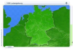Städte Deutschlands. Geographie Spiele
