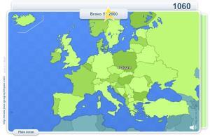 Pays d'Europe. Jeux géographiques