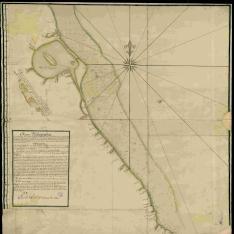 Mapa Hidrografica desde el Puerto de Veracruz hasta la punta y Placeres de Anton Lizardo