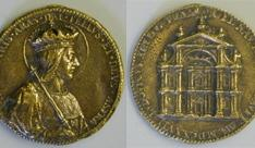 Medalla del inicio de la construcción de la iglesia de San Luis, París