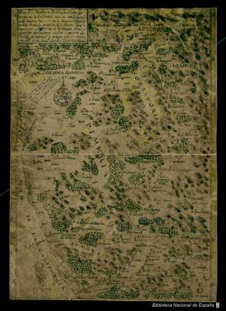 Plan de las Misiones Jesuitas y del paso por tierra de la California