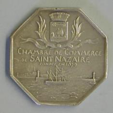 Medalla conmemorativa de la apertura de la Cámara de Comercio de Saint Nazaire