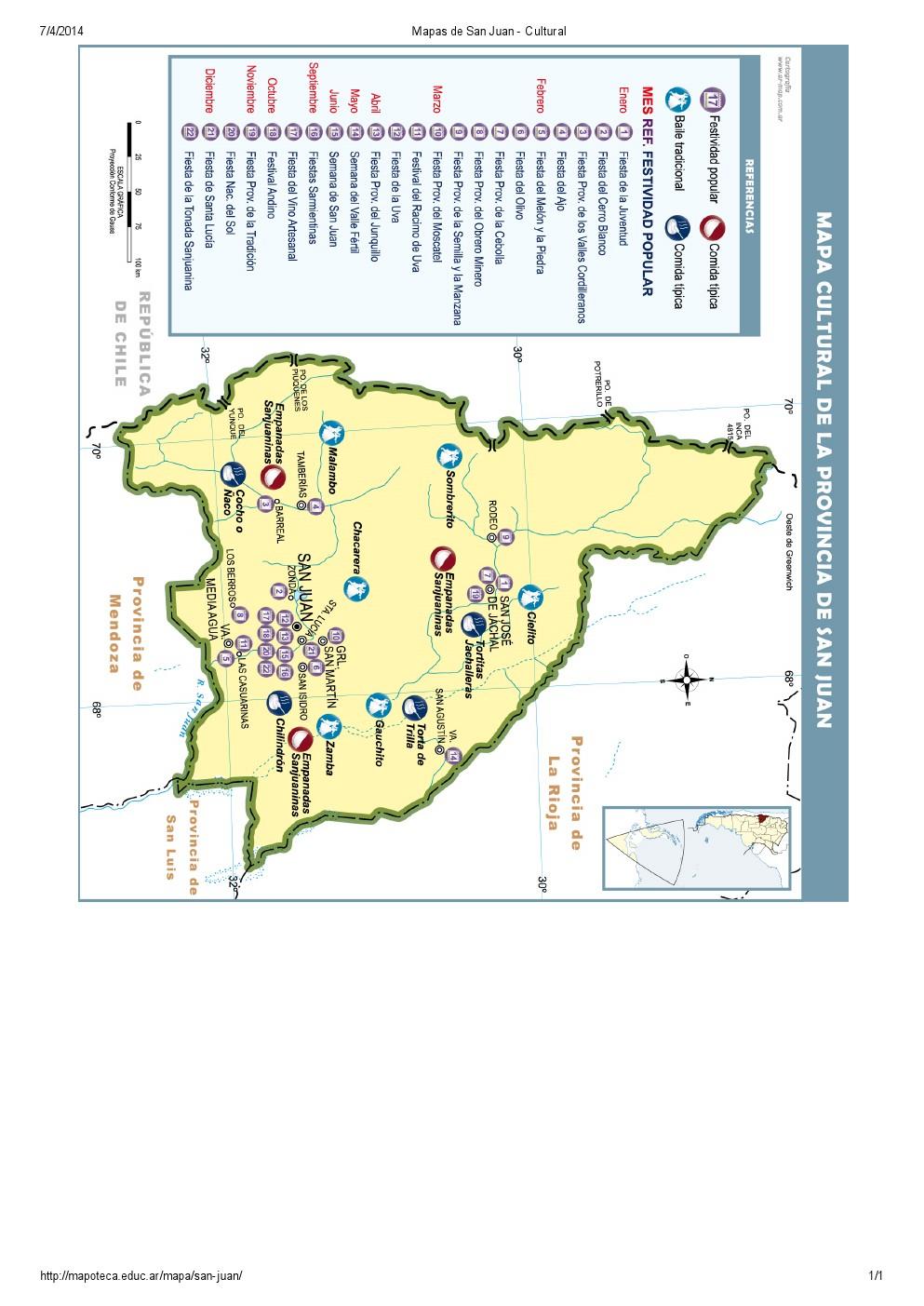 Mapa cultural de San Juan. Mapoteca de Educ.ar