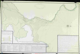 Plano de la Ria de Villa Viciosa y Concha de Tazones situada por observación la punta del Regato en la Latitud N. de 43º 30'