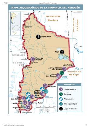 Mapa arqueológico de Neuquén. Mapoteca de Educ.ar