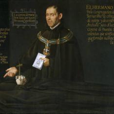 El hermano Lucas Texero ante el cadáver del Venerable Bernardino de Obregón
