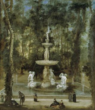 La Fuente de los Tritones en el Jardín de la Isla, de Aranjuez