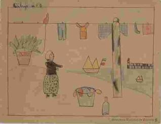 Mujer lavando la ropa
