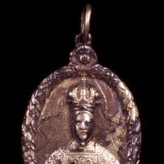 Medalla con Ntra Sra del Sagrario, patrona de Toledo