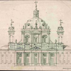 Proyecto de fachada de una iglesia o catedral