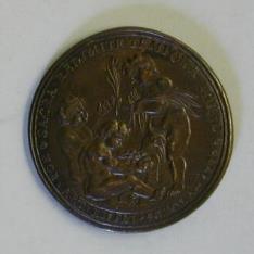 Medalla de proclamación de Carlos IV. Academia de Artes Nobles de Sevilla