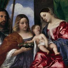 La Virgen con el Niño, Santa Dorotea y San Jorge