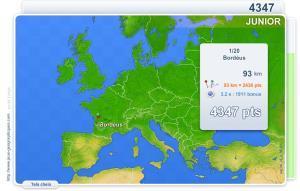 Cidades de Europa Júnior.  Jogos geográficos