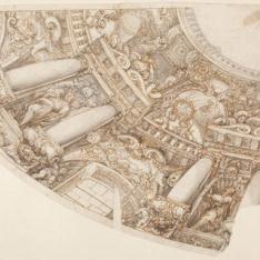 Estudio para la decoración de la cúpula de San Antonio de los Portugueses
