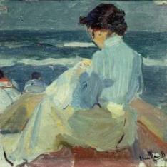 Clotilde en la playa