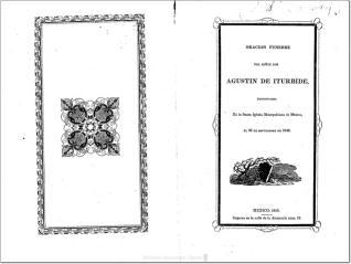 Oración fúnebre del Sr. D. Agustin de Itúrbide