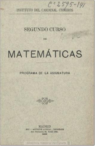 Segundo curso de matemáticas