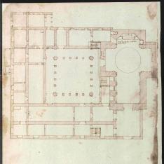 Planta del monasterio de Nuestra Señora de los Remedios de Sevilla