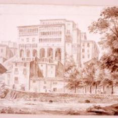 Vista del palacio episocpal de Tarazona